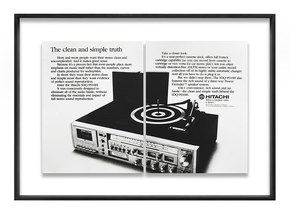 "Isa Genzken – ""Hitachi"", 1979 2 parts, b/w photographs in wooden frame 66 x 95 cm (framed 79 x 110 x 4 cm)"