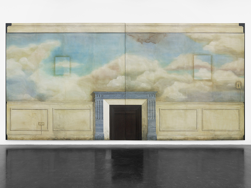"Lucy McKenzie – ""May of Teck"", 2010 oil on canvas 2 parts, each 290 x 300 cm"