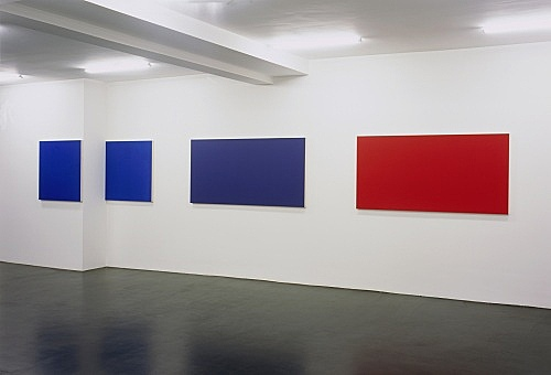"Morgan Fisher – ""Pendant Pair Paintings"" installation view Galerie Daniel Buchholz, Köln 2007"