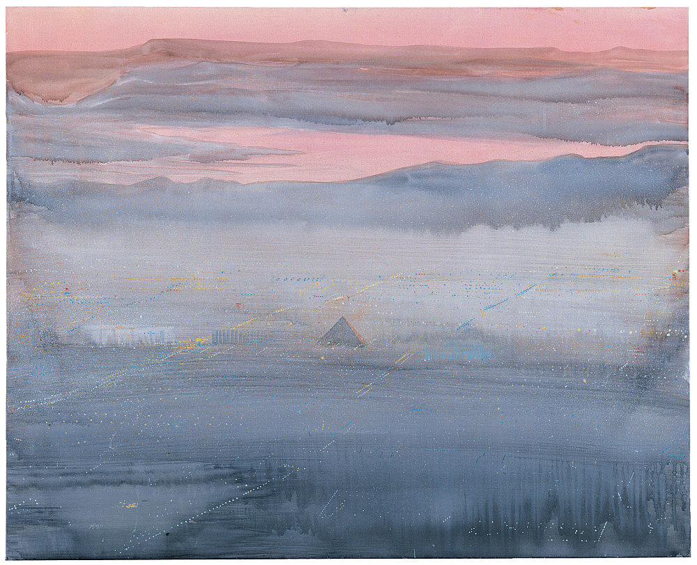 "Silke Otto-Knapp – ""Luxor"", 2003 watercolour on canvas 85 x 105 cm"