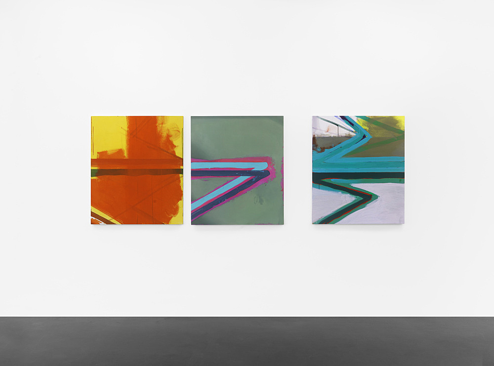 Thomas Eggerer – Untitled, 2011 3 parts, oil and acrylic on linen each 100 x 86,5 cm