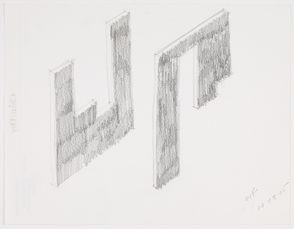 """Morgan Fisher – """"Studies for paintings"""", 2005 pencil on paper 21,6 x 27,9 cm"""