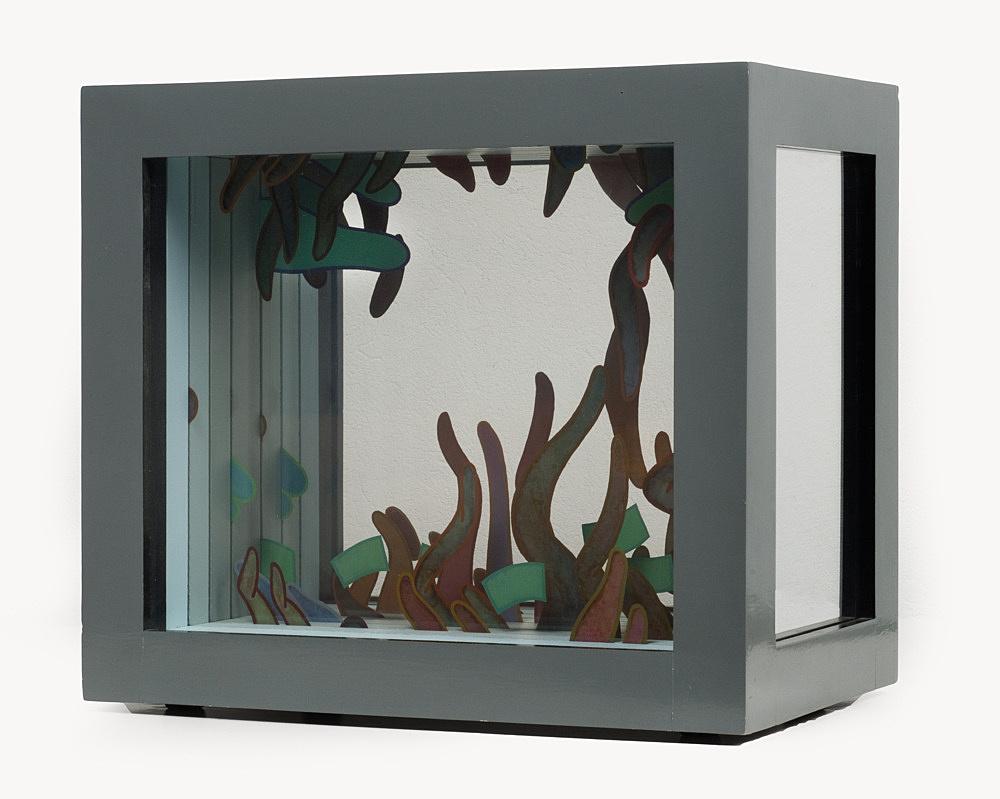 "Ed Flood – ""Untitled (One Side Edge Round)"", 1973 acrylic, plexiglas, wood 36,8 x 41,3 x 25,4 cm"