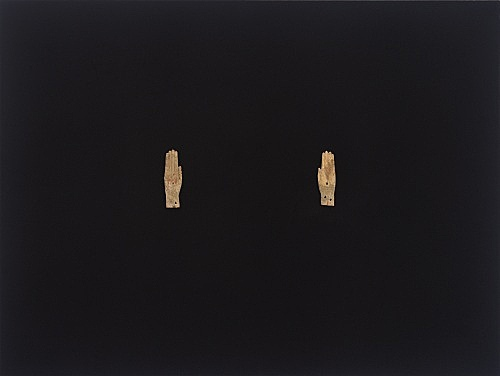 "Florian Pumhösl – ""Untitled (Kader)"", 2004 assemblage, wood on loden 121 x 160 cm"