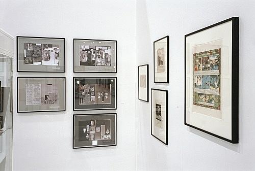 """""""Abschied von den Eltern"""" – installation view Art Cologne - Open Space, Galerie Daniel Buchholz, Köln 2005"""