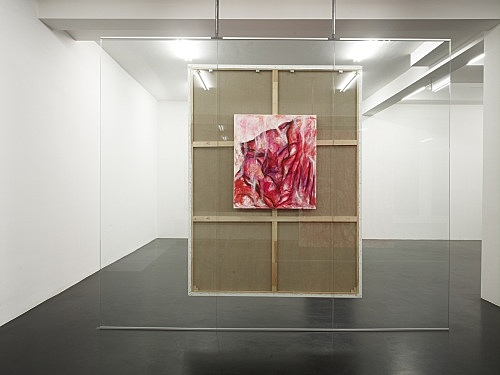 "Jutta Koether – ""INKARNAT GEWAND"", 2008 acrylic on canvas 80 x 70 cm installation view Galerie Daniel Buchholz, Köln 2008"