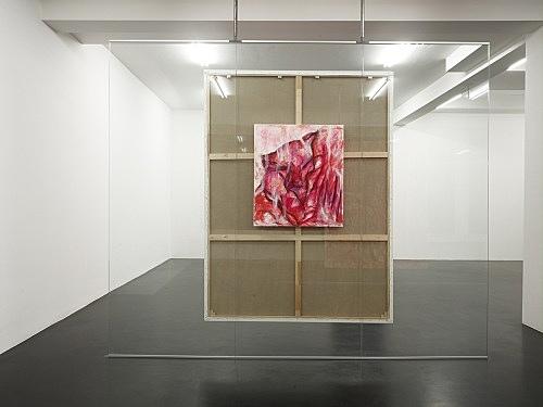 "Jutta Koether – ""Inkarnat Gewand"", 2008 acrylic on canvas 80 x 70 cm"