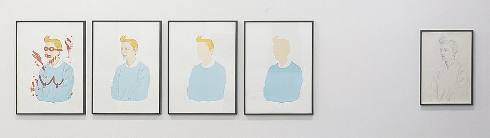 Lucy McKenzie – Untitled, 2005 5 parts: pencil on paper, 59,1 x 42 cm 4 silkscreens, each 55,8 x 75 cm