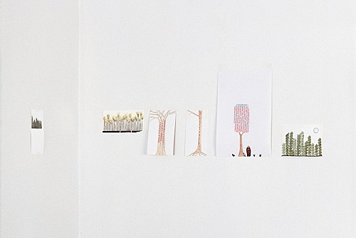 """Frances Stark – """"My 1995, 1998, 1997, 1999, 1996 and 2000"""", 2000 6 parts, collage on paper dimensions variable"""