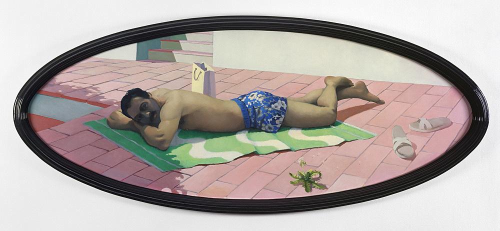 "Lukas Duwenhögger – ""Caspar"", 2002 oil on canvas, artist frame 242 x 102 cm"