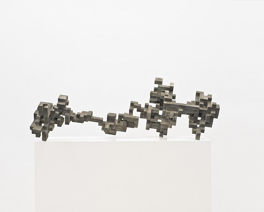 "Cheyney Thompson – ""Broken Volume (10 L)"", 2013 concrete, epoxy 41 x 119,5 x 57 cm"
