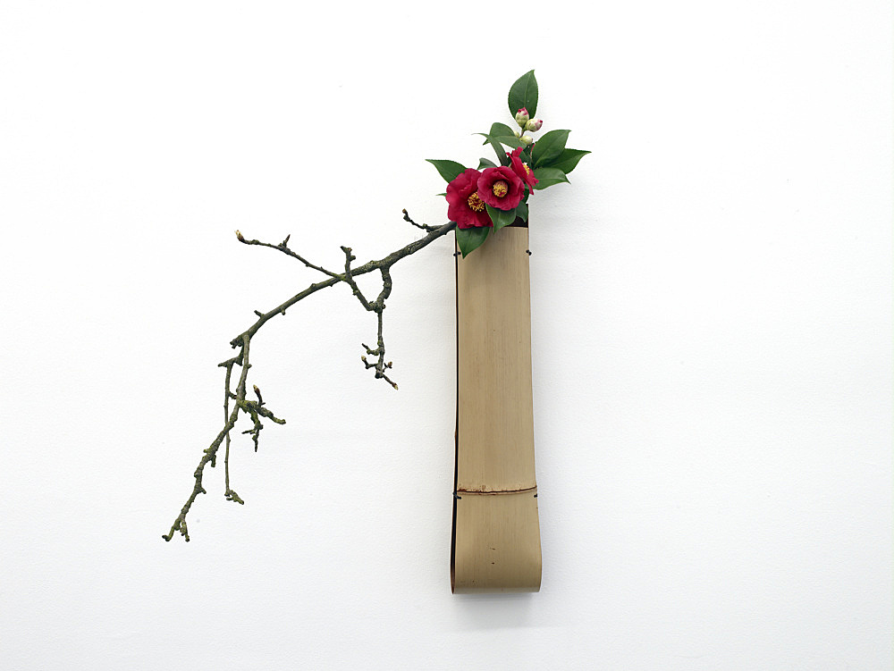 """Cerith Wyn Evans – """"Interlude"""", 2009 flower bouquet in bamboo vase dimensions variable"""