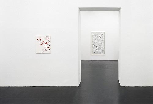 "Frances Stark – ""Destroy Date"" installation view Galerie Daniel Buchholz, Köln 2004"