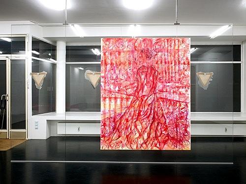 """Jutta Koether – """"Die Seele zwischen Himmel und Hölle 2"""", 2008 acrylic on canvas 200 x 160 cm"""