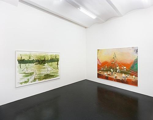 "Thomas Eggerer – ""O Pioneers"" installation view, Galerie Daniel Buchholz, Köln 2006"