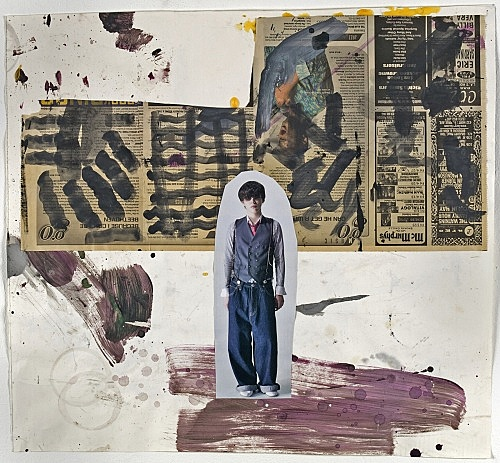 "Richard Hawkins – ""Shinjuku Boy (#3)"", 2008 collage 51 x 57 cm"