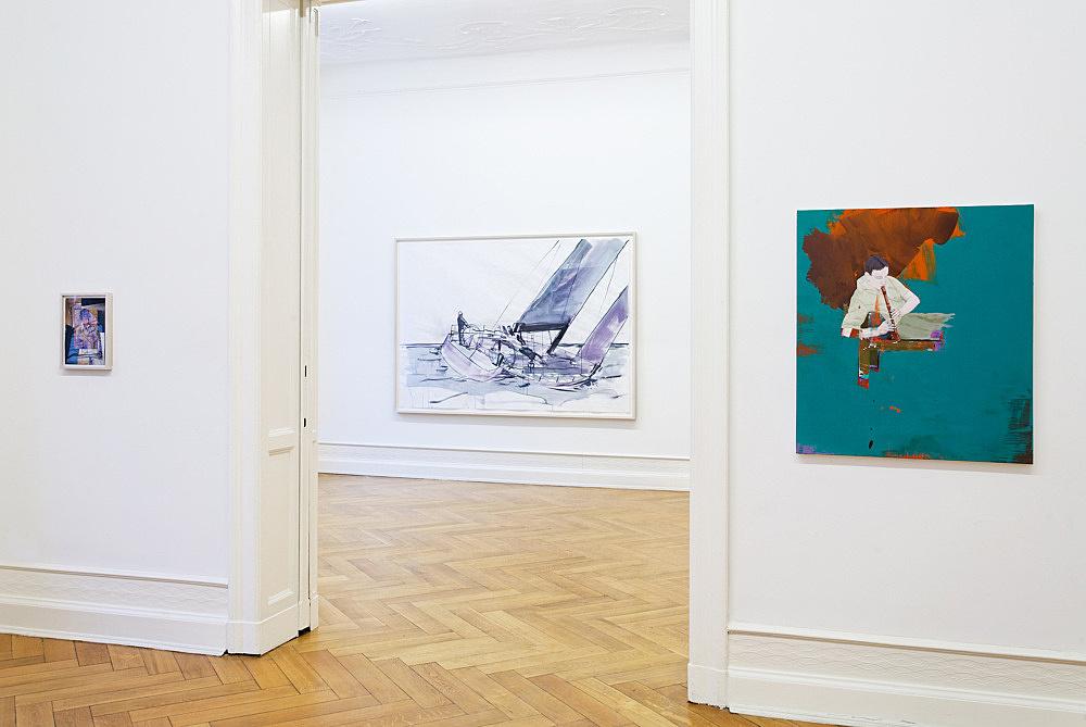 "Thomas Eggerer – ""Fence Romance"" installation view Galerie Daniel Buchholz, Berlin 2010"