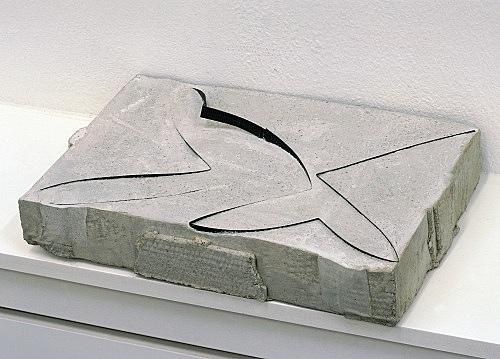 "Stefan Thater – ""Tape"", 2005 concrete, plastic ribbon 38 x 27 x 7 cm"