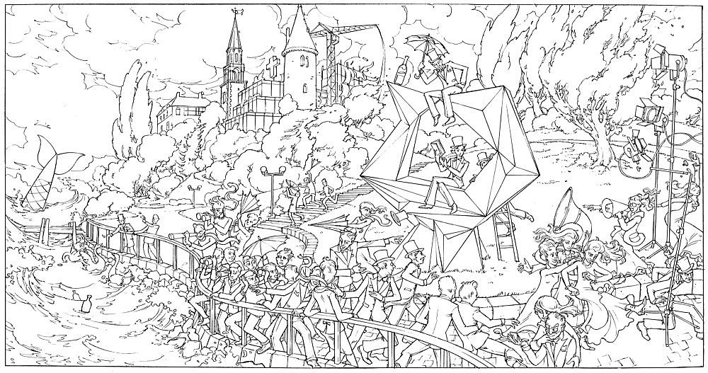 "Julian Göthe – ""Me Me Me"", 2008 pencil on paper 22 x 41 cm"