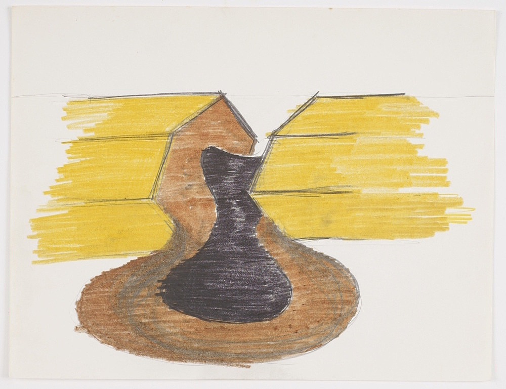 Morgan Fisher – Untitled, 1968 pencil and coloured pencil on paper 21,6 x 27,9 cm
