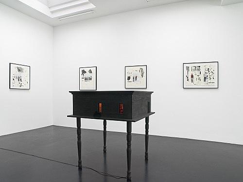 Richard Hawkins – installation view Galerie Daniel Buchholz, Köln 2008