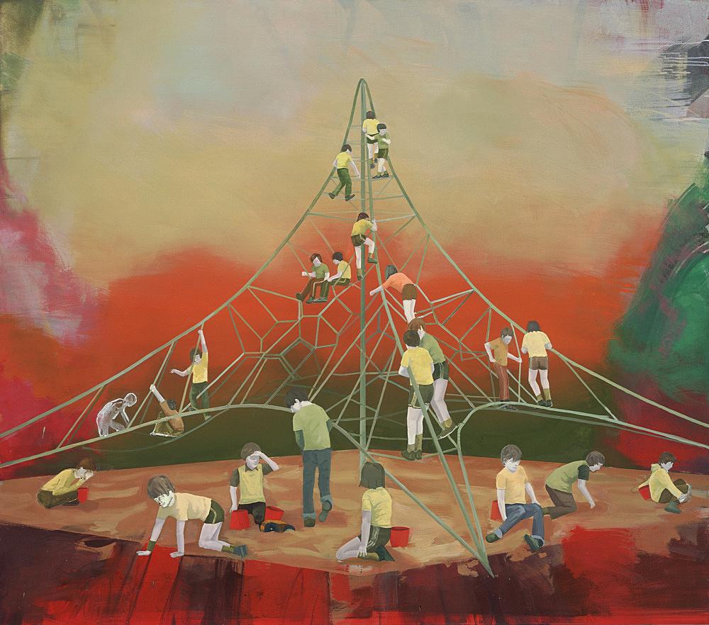 """Thomas Eggerer – """"Into thin Air"""", 2005 acrylic on canvas 182 x 209 cm"""