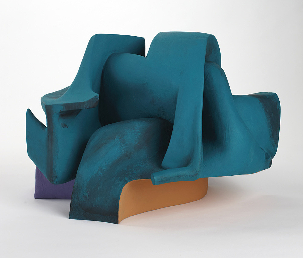 Vincent Fecteau – Untitled, 2011 gypsum cement, resin clay, acrylic paint 40,6 x 61 x 60 cm