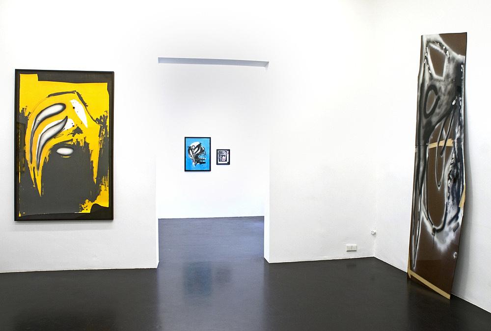 Aaron Curry – installation view Galerie Daniel Buchholz, Köln 2008