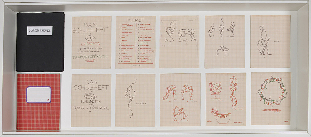 "Alice Horodisch-Garnmann, after Marcus Behmer – ""Das Schul-Heft I und II"", 1980 2 vol, Amsterdam ink on transparent paper 21,1 x 16,3 cm"