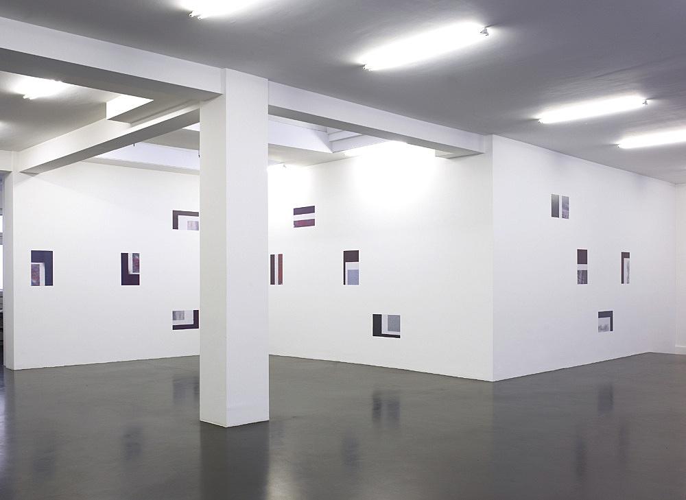 "Cheyney Thompson – ""Working Papers"", 2008 12 duotone offset prints each 53 x 33 cm installation view Galerie Daniel Buchholz, Köln 2008"