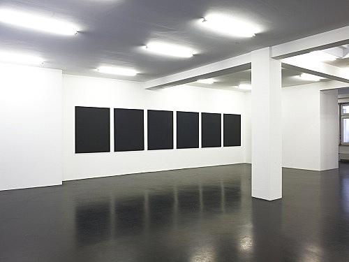 "Cheyney Thompson – ""Some motifs and their sources"" installation view Galerie Daniel Buchholz, Köln 2008"