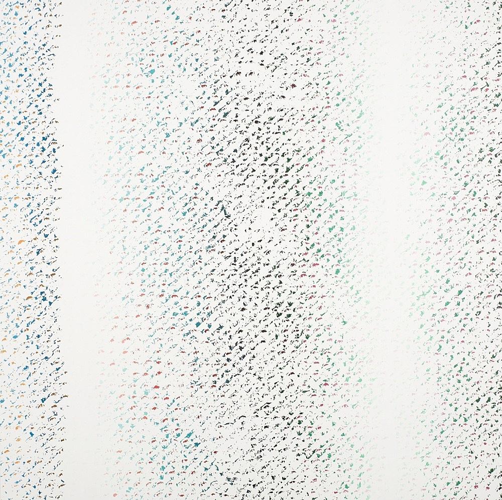 """Cheyney Thompson – """"Chronochrome VI"""", 2009 oil on canvas 140 x 140 cm"""