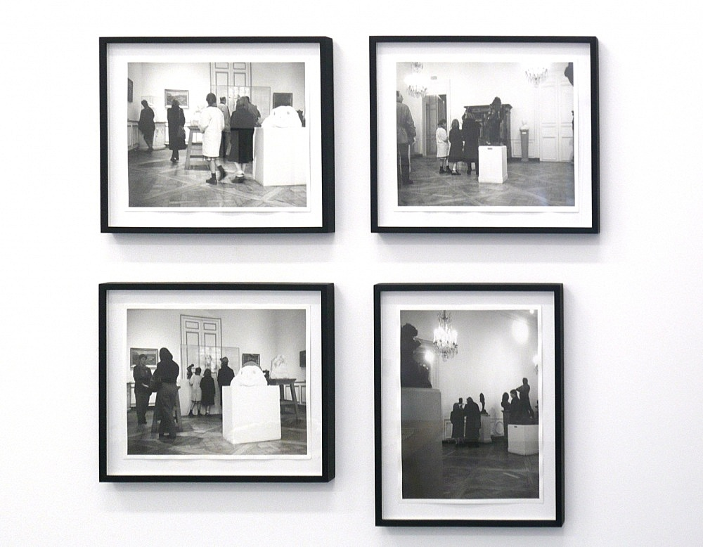 "Cosima von Bonin – ""Rodin Museum I – IV"", 1992 4 parts, b/w-photograph each 22 x 29 cm"