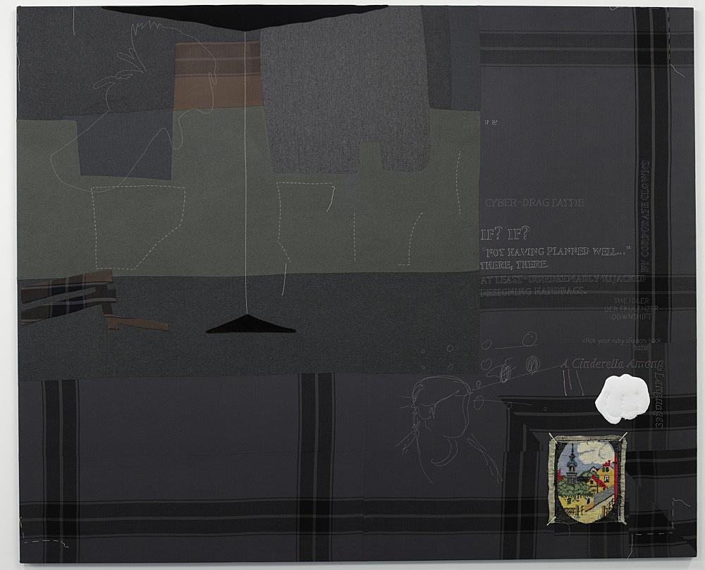 """Cosima von Bonin – """"if? if?"""", 2008 cotton, wool 238 x 291 cm"""