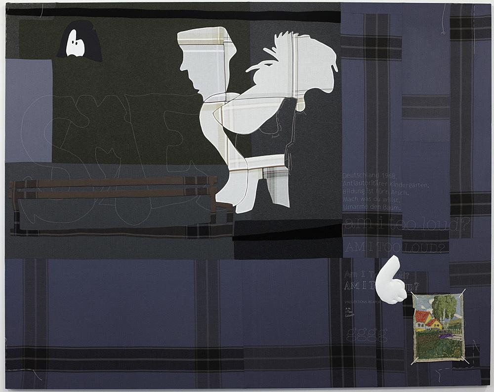 "Cosima von Bonin – ""AM I TOO LOUD?"", 2008 cotton, wool 236 x 298 cm"