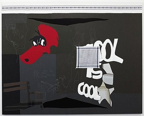 """Cosima von Bonin – """"MISDEMEANOUR"""", 2008 cotton, wool 231 x 287 cm"""