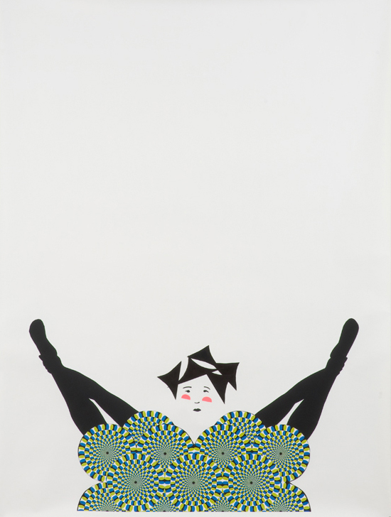 """Frances Stark – """"Chorus member in special position"""", 2008 paper collage, graphite on paper 193 x 146,5 cm"""