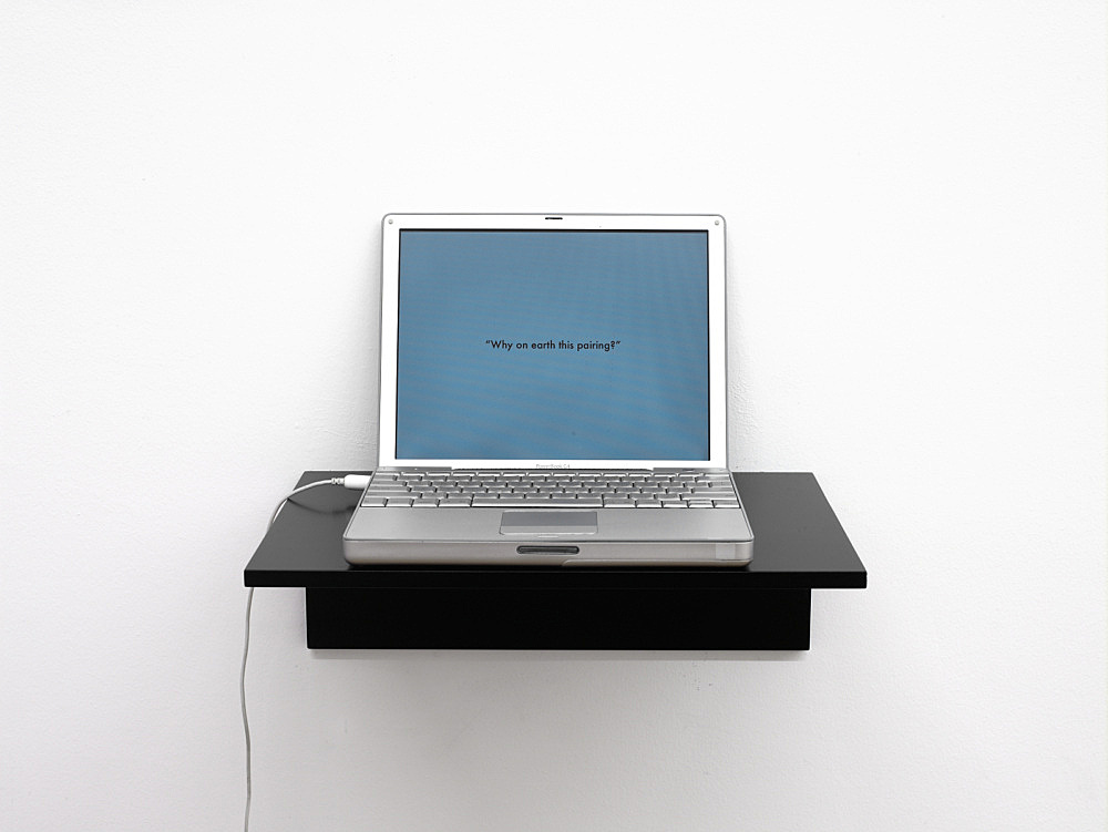 """Frances Stark – """"possibly but not certainly Mark Leckey and Frances Stark"""", 2009 power point, 15'"""