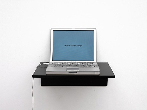 "Frances Stark – ""possibly but not certainly Mark Leckey and Frances Stark"", 2009 power point, 15'"