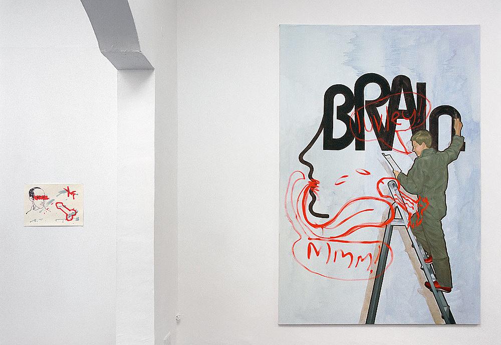 "– ""I and My Chimney"" installation view Galerie Daniel Buchholz, Köln 2003"