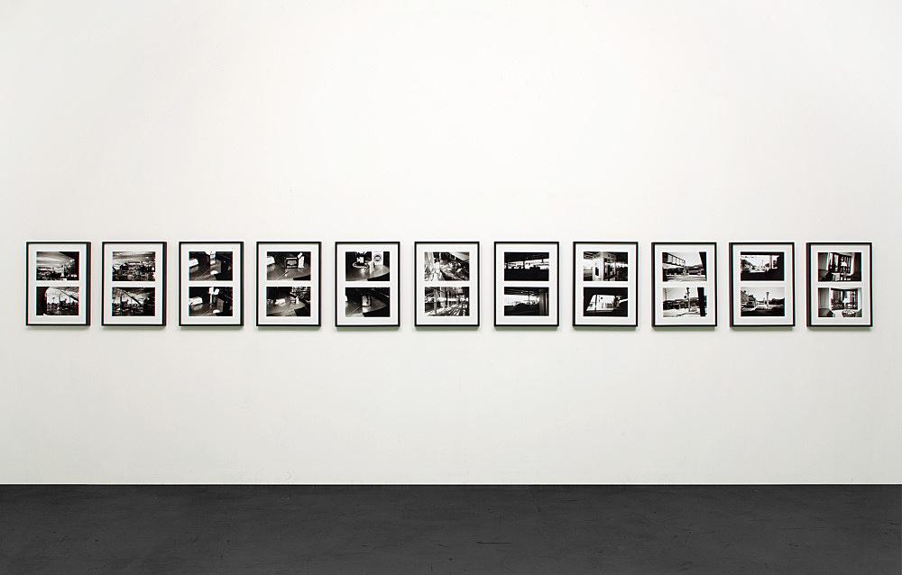 Isa Genzken – Untitled, 2001 22 b/w-photographs in 11 frames each 20 x 30,5 cm each frame 57,5 x 44 cm