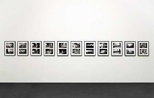 Isa Genzken – Untitled, 2001 22 b/w-photographs in 11 frames each 20 x 30,5 cm each frame 57,5 x 44 cm