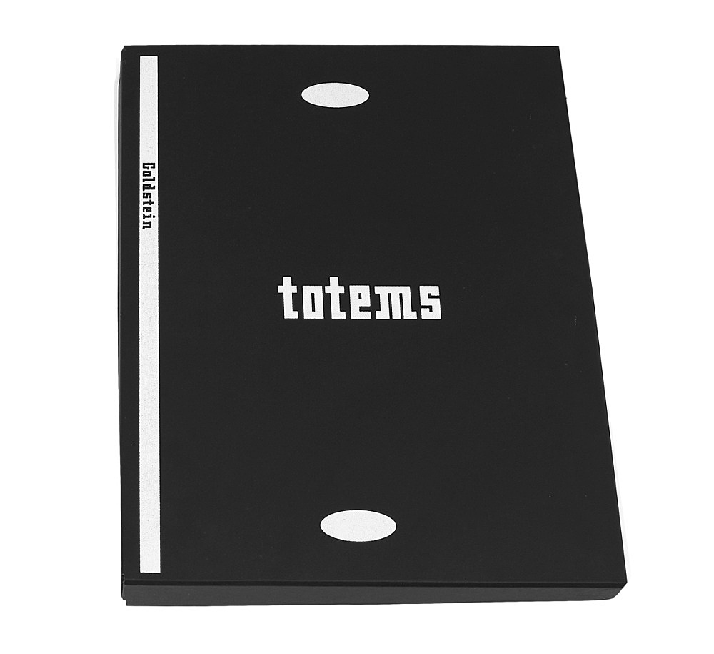 """Jack Goldstein – """"Totems: Selected Writings 1988 – 1990"""", 1990 100 computer printouts in box box: 47,5 x 38 x 6 cm pages each 45,7 x 35 cm"""