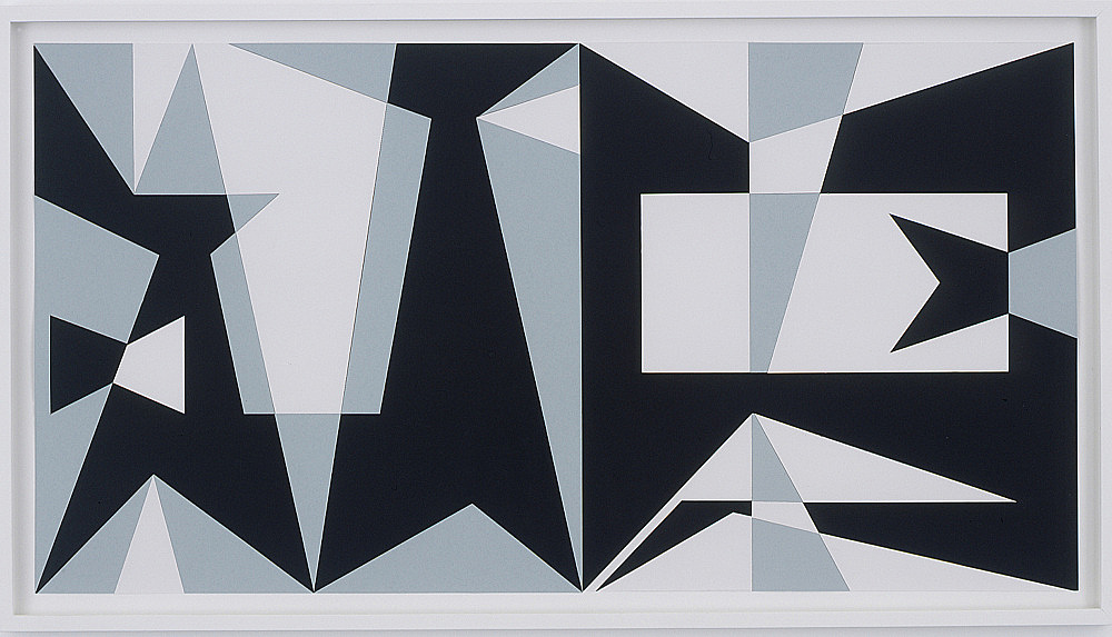 "Julian Göthe – ""The Shadows Took Shape II"", 2007 collage 62 x 112 cm"