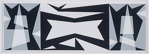 """Julian Göthe – """"The Shadows Took Shape I"""", 2007 collage 57 x 162 cm"""