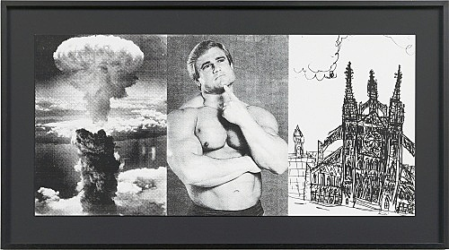 """Julian Göthe – Oooo! (""""It's Alright With Me""""), 2011 unique silkscreen on paper 31 x 65,3 cm"""