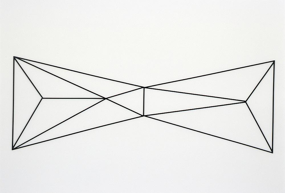 """Julian Göthe – """"Terrore Nello Spazio"""", 2007 powder coated steel 90,5 x 284 x1 cm"""