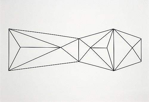 """Julian Göthe – """"Terrore Nello Spazio"""", 2007 powder coated steel 79,5 x 225 x 1 cm"""