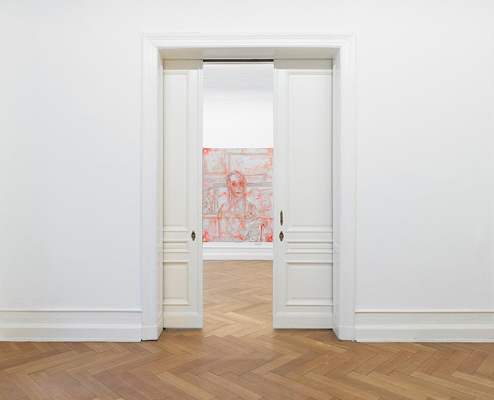 """Jutta Koether – """"Berliner Schlüssel"""" installation view Galerie Daniel Buchholz, Berlin 2011"""