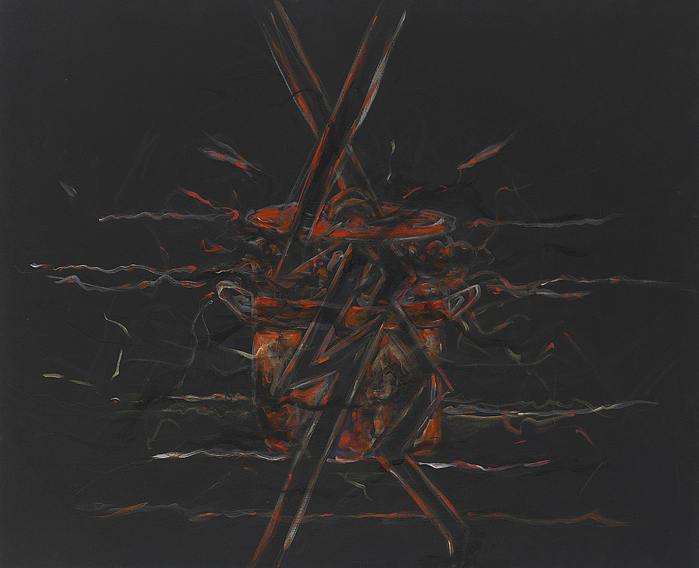 "Jutta Koether – ""Berliner Schlüssel #4"", 2010 acrylic on canvas 91.5 x 117 cm"